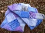 infinity entrelac scarf