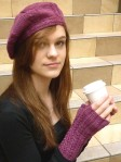 pointer mitts and beret