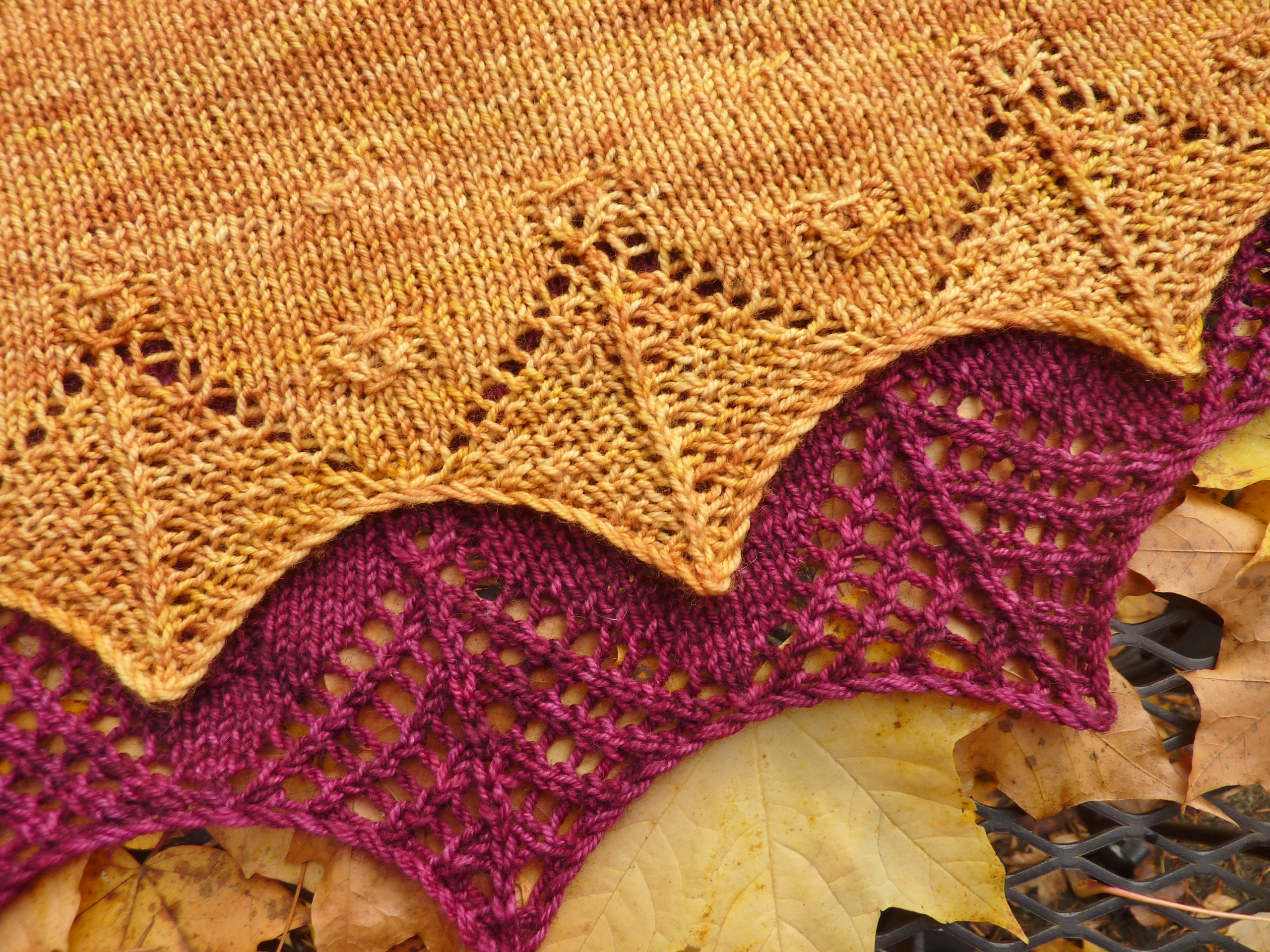 Webfoot And Filigree Scarves Pdxknitterati