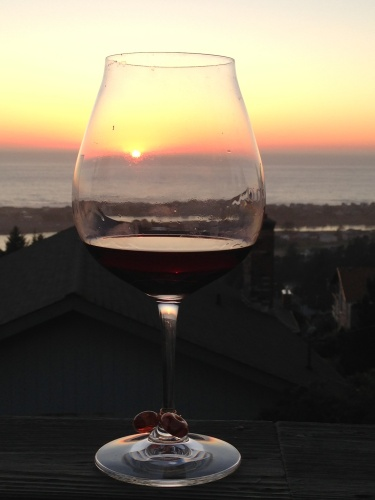 sunset in a glass