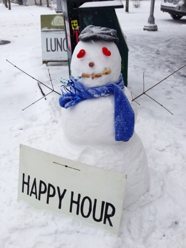 happy hour snowman