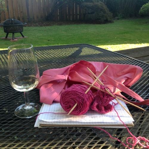 backyard knitting