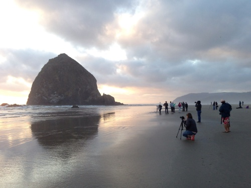 haystack rock sunset chasers