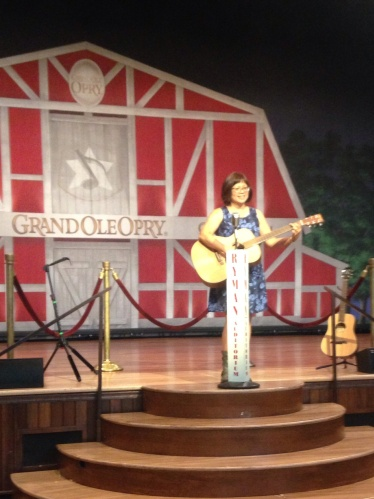 onstage at the Ryman