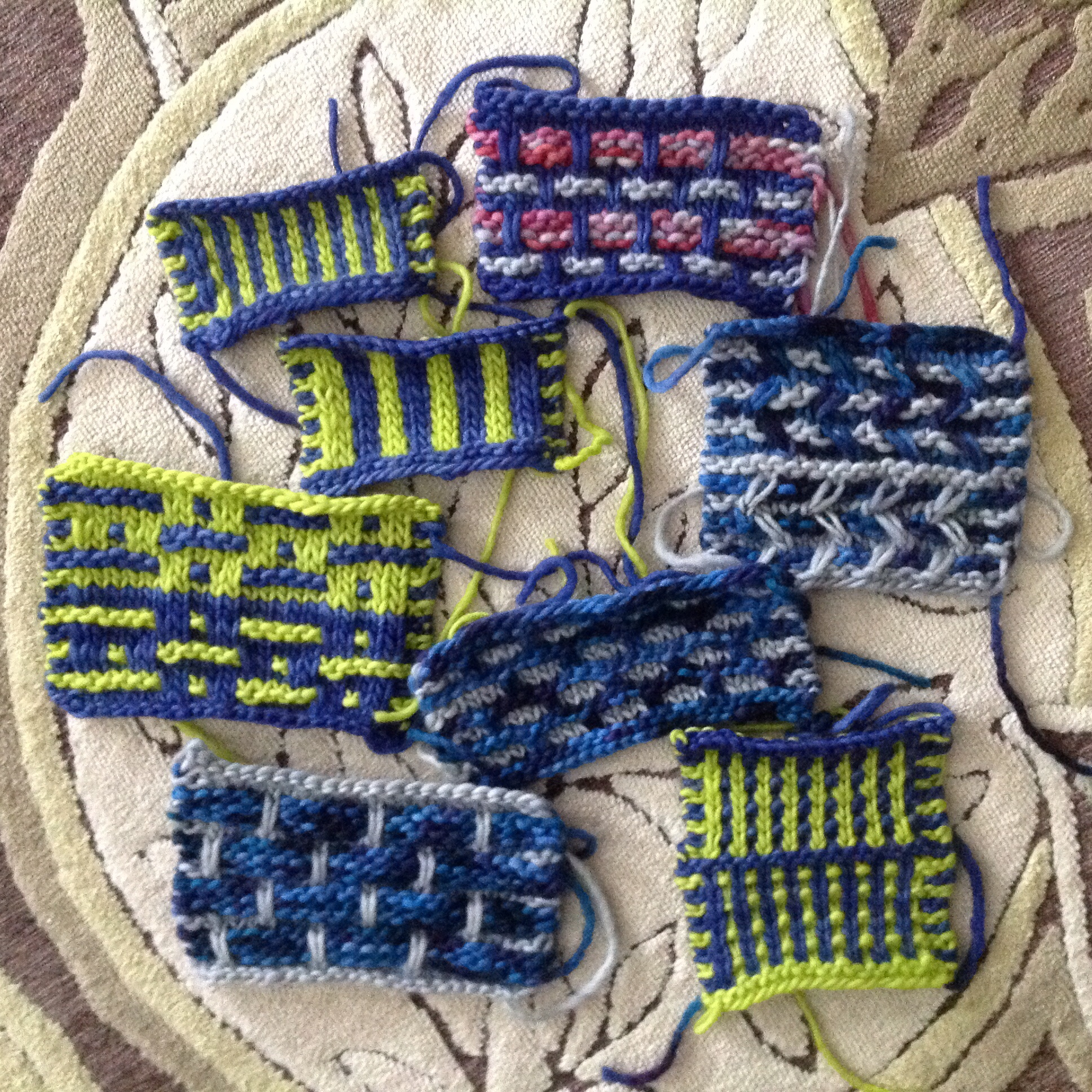 Color work, two ways PDXKnitterati