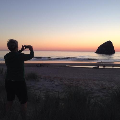 Haystack Rock Sunset Cape Kiwanda