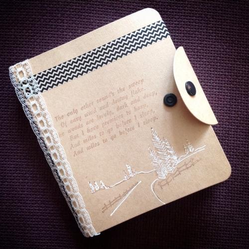 snowy woods notebook