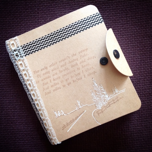 snowy woods notebook