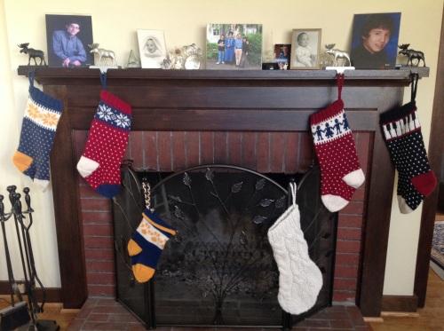 PDXKnitterati Christmas stocki