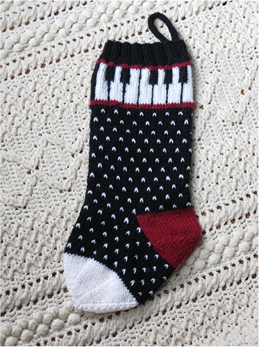 pdxknitterati piano christmas stocking