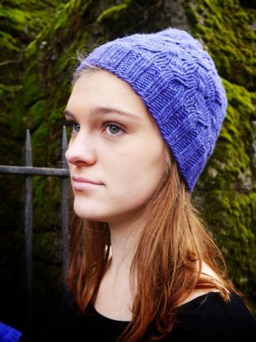 pdxknitterati criss cross hat