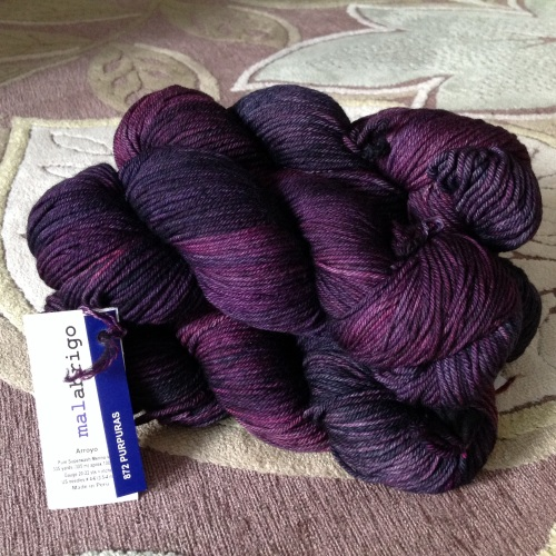 malabrigo arroyo purpuras