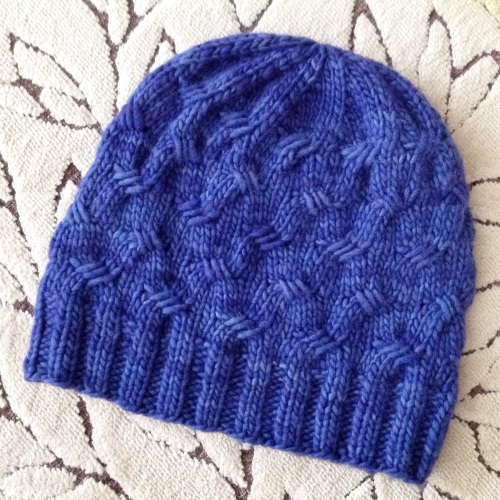 pdxknitterati criss cross hat