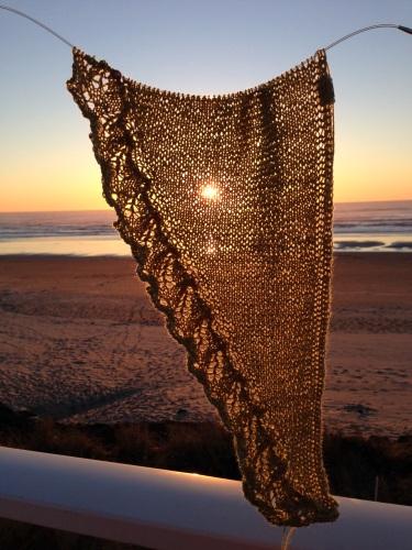 pdxknitterati fern shawlette