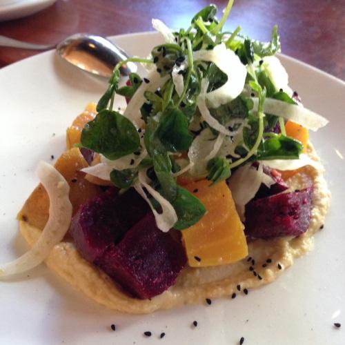 beet salad at lola