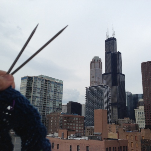 knitting sears tower