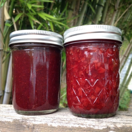 strawberry balsamic jams