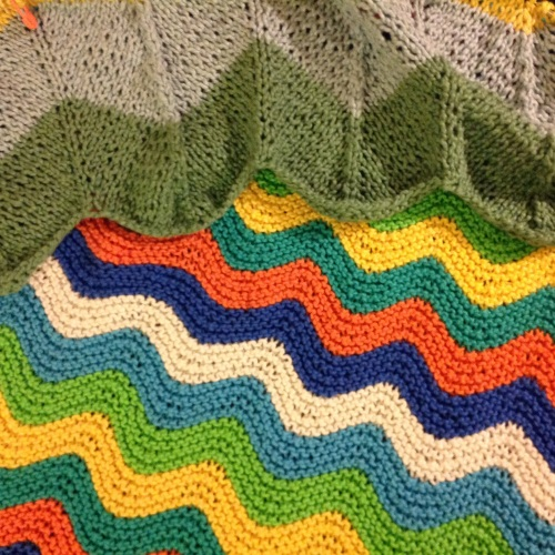 knit zigzag