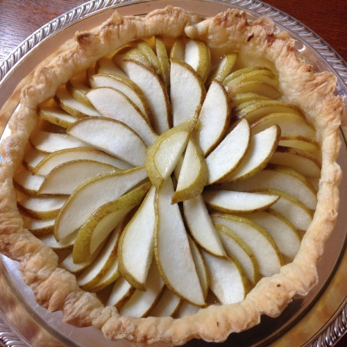 puff pastry pear tart