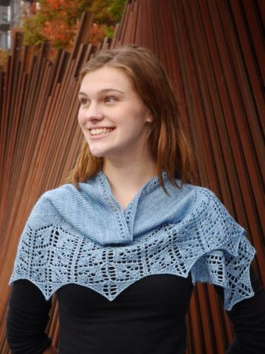 pdxknitterati lobelia shawlette