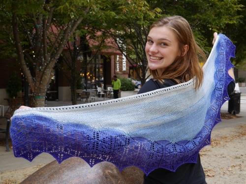 pdxknitterati lobelia shawl