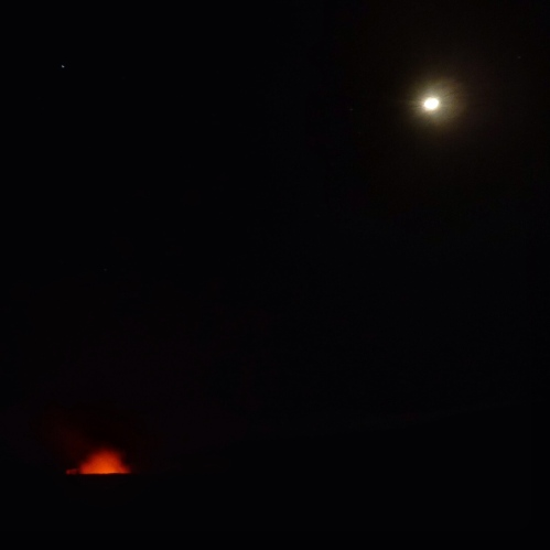 moonset at kilauea