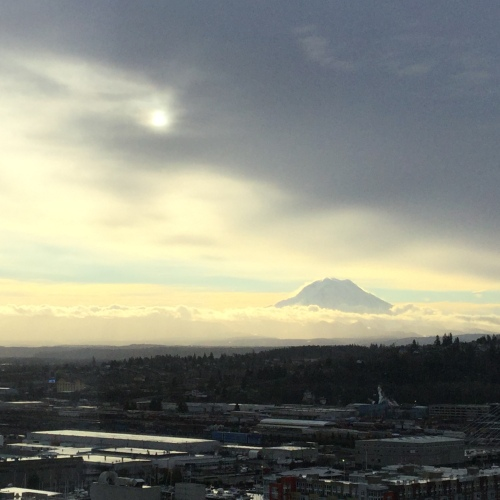 Rainier peeking Friday