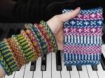 pdxknitterati braided wristlets