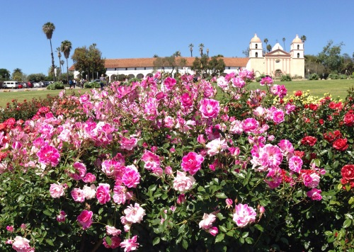 Santa Barbara Mission and Rose Garden