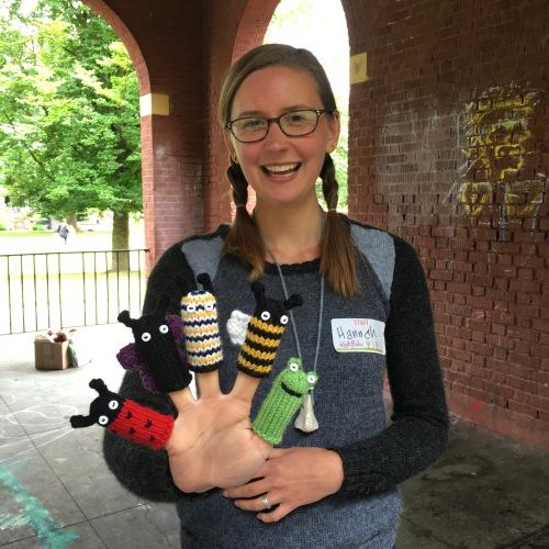 Hannah Knit Picks finger puppets