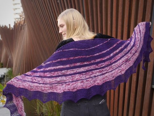 Ships in the Night shawl wingspan