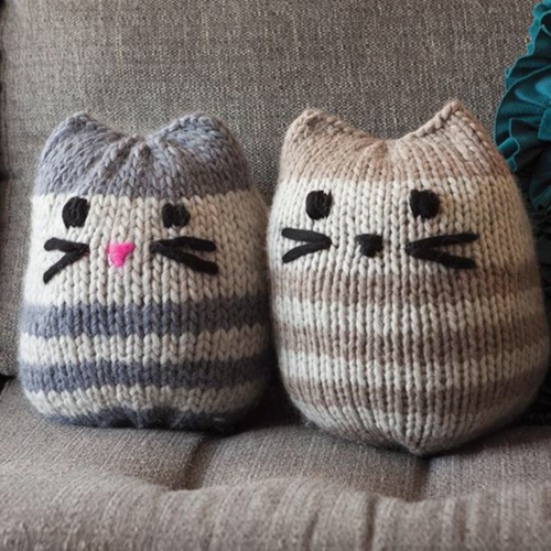 Mini Kitty Pouf by Molly Rivera