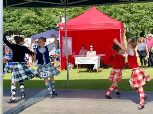 Highland dancers, Lorne Highland Games