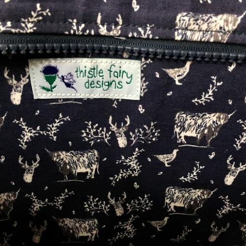 Harris Tweed bag by Thistle Fairy Designs