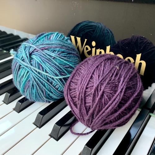 Pretty yarn balls