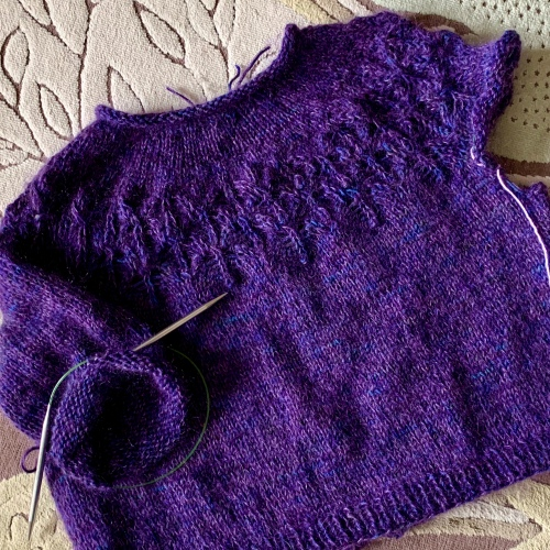 Purple Love Note sweater