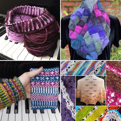 Virtual Knitting Live class collage