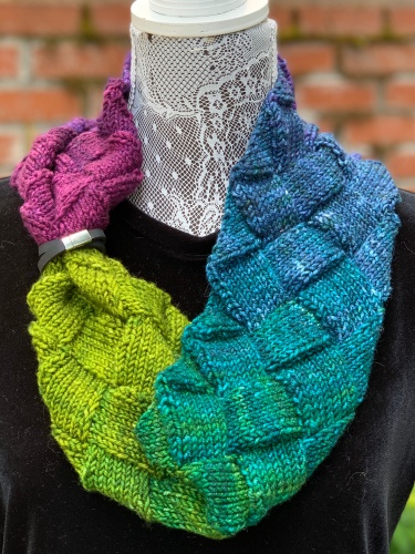 Minerva Cowl with Wrist Ruler