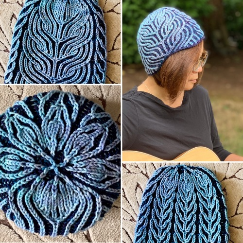 Deep End brioche hat